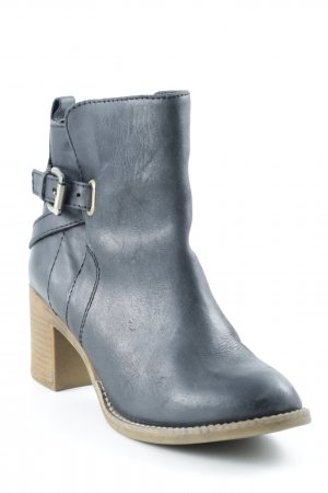 Zign Ankle Boots schwarz-camel Street-Fashion-Look