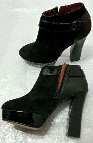 zign ankle boots schwarz echtleder wildleder lack