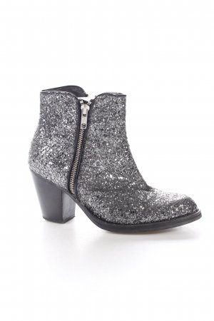 Zign Booties anthrazit-schwarz Glitzer-Optik