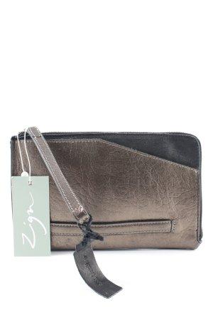 Zign Clutch schwarz-bronzefarben extravaganter Stil