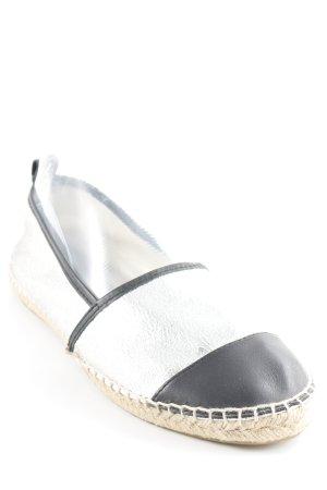 Zign Espadrilles-Sandalen schwarz-silberfarben Metallic-Optik