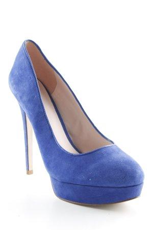 Zign High Heels blau schlichter Stil