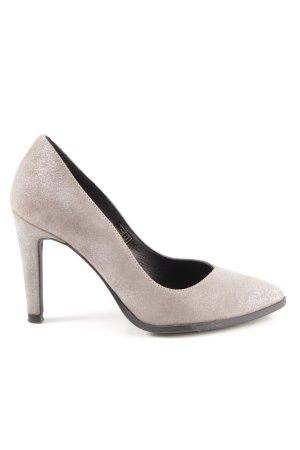 Zign High Heels graubraun-silberfarben Elegant