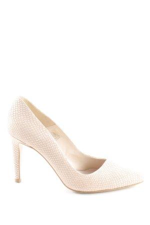 Zign High Heels roségoldfarben Animalmuster