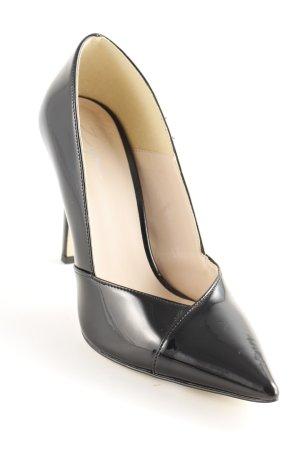 Zign High Heels schwarz Lack-Optik