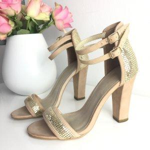 Zign highheels Gr 37 Sandaletten Pumps nude Gold beige