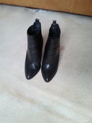 Zign Keil Stiefeletten Leder schwarz mit Stretchgummi Gr. 40