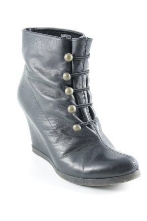 Zign Keil-Stiefeletten schwarzbraun Casual-Look