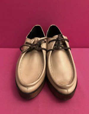 Zign Lace Shoes sand brown-camel leather