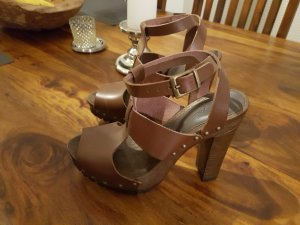Zign High Heel Sandal bronze-colored leather