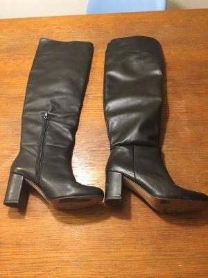 ZIGN Overknees Stiefel schwarz Leder