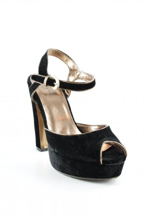 Zign Plateau-Sandaletten schwarz-rostrot Elegant