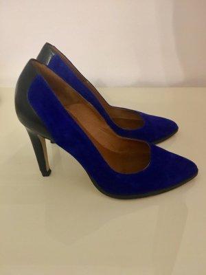 ZIGN Pumps royalblau-schwarz 37 - NP 85€