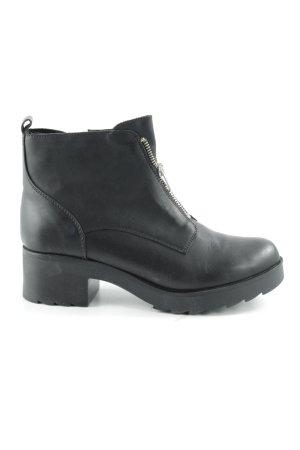 Zign Reißverschluss-Stiefeletten schwarz Street-Fashion-Look