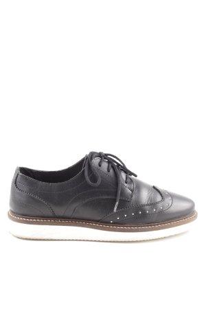 Zign Richelieus Shoes black-white casual look
