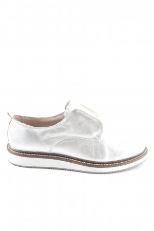 Zign Richelieus Shoes silver-colored casual look