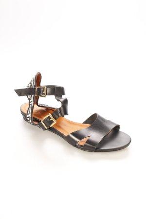 Zign Riemchen-Sandalen schwarz-weiß Aztekenmuster Boho-Look