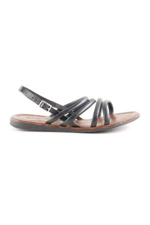 Zign Roman Sandals black-brown simple style