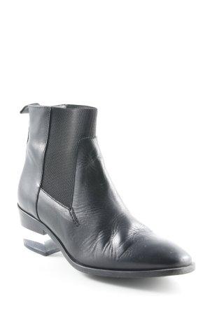 Zign Schlüpf-Stiefeletten schwarz schlichter Stil