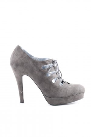 Zign Lace-up Pumps light grey business style