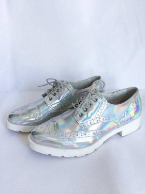 Zign Schnürschuh silber metallic Hologramm