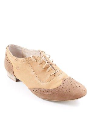 Zign Schnürschuhe hellbraun-beige Business-Look
