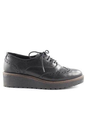 Zign Schnürschuhe schwarz-dunkelbraun Brit-Look