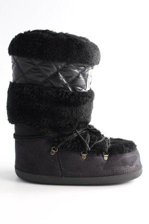 Zign Bottes de neige noir molletonné