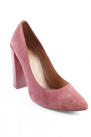 Zign Spitz-Pumps karminrot Business-Look