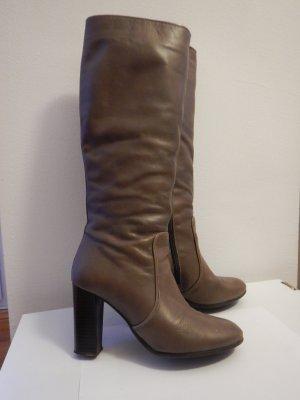 ZIGN Stiefel aus Leder Taupe Gr. 38
