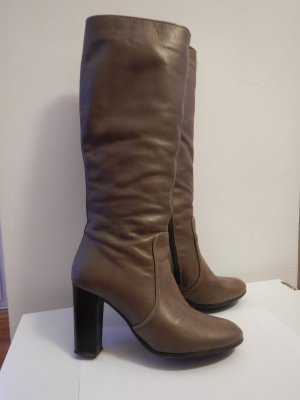 ZIGN Stiefel aus Leder Taupe Grau Gr. 38