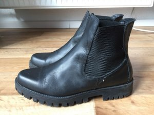 Zign Chelsea Boots black leather