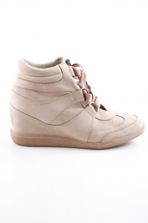Zign Wedge Sneaker nude casual look
