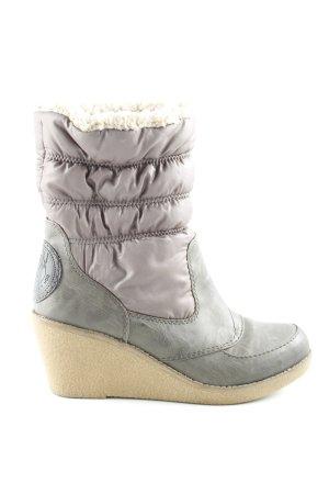 Zign Winter-Stiefeletten graubraun-beige Casual-Look