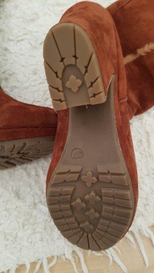 Zign Fur Boots bronze-colored
