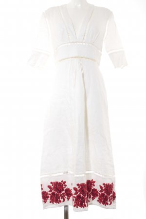 Zimmermann Cut out jurk bloemenprint straat-mode uitstraling