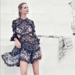 Zimmermann Cut out jurk veelkleurig Zijde
