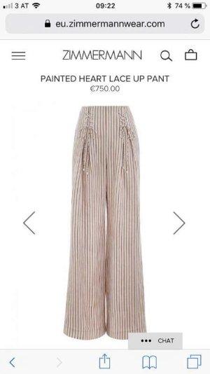 Zimmermann Linen Pants pink-cream