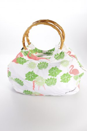 Zimstern Henkeltasche white with print