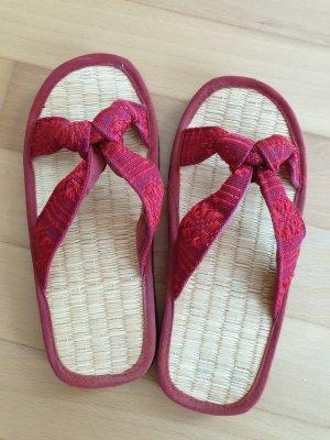 High-Heeled Toe-Post Sandals multicolored mixture fibre