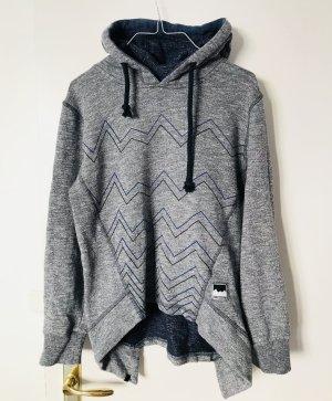 Zimtstern Damen Hoodie Kapuzenpullover Pullover grau S 36
