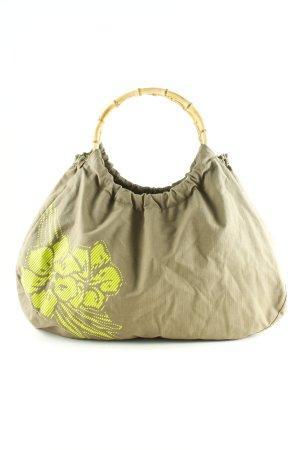 Zimtstern Carry Bag khaki-meadow green placed print beach look