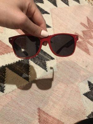 Zimtstern Oval Sunglasses dark red