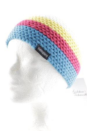 Zimtstern Chapeau en tricot motif rayé molletonné