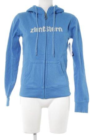 Zimtstern Sweatjacke blau Casual-Look