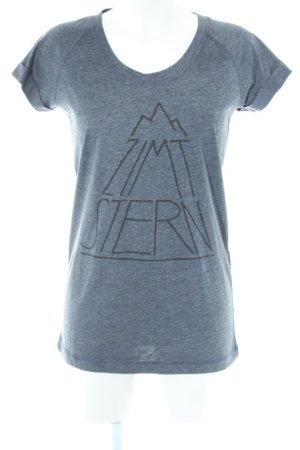 Zimtstern T-Shirt anthrazit sportlicher Stil