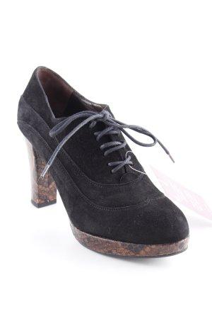 Zinda Zapatos Budapest negro-color bronce estampado de animales elegante