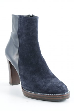 Zinda Reißverschluss-Stiefeletten dunkelblau-braun Casual-Look