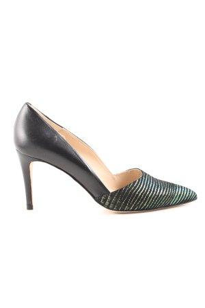 Zinda Spitz-Pumps schwarz-grün grafisches Muster Business-Look