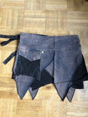 Wraparound Skirt black-grey cotton